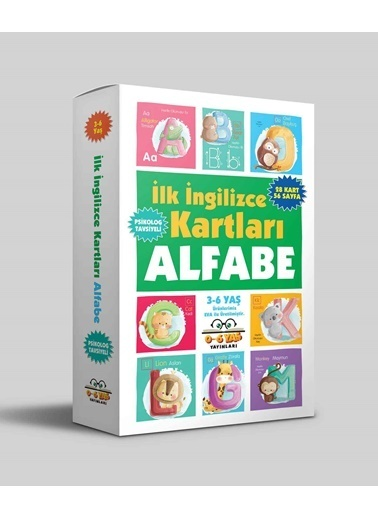 OKHU SHOES İlk İngilizce Kartları - Alfabe - 3-6 Yaş Renkli